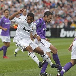 Marcelo durante un lance del primer partido de pretemporada