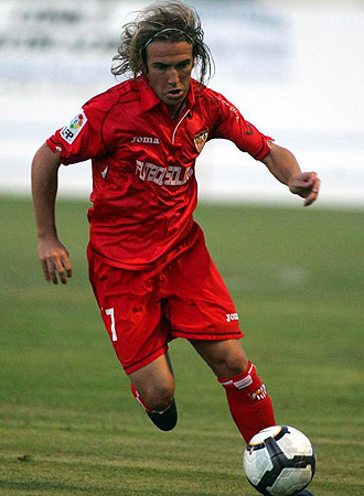 Diego Capel durante un partido de pretemporada