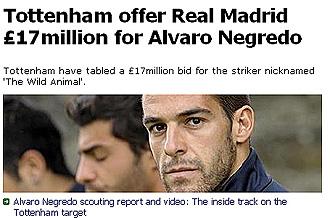 Portada digital de la secci�n de deportes del Daily Mirror