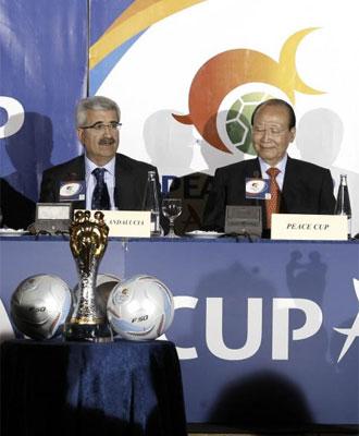 Presentaci�n de la Peace Cup.