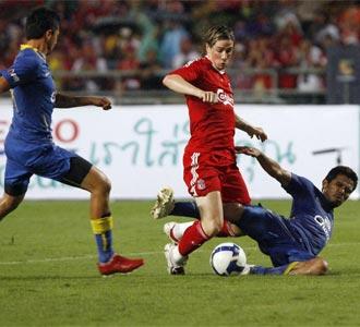 Torres, en un lance del partido