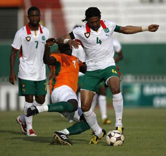 Costa de Marfil, en un partido ante Camer�n