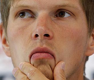 Klaas-Jan Huntelaar en rueda de prensa