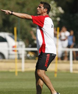 Jiménez durante un entrenamiento.