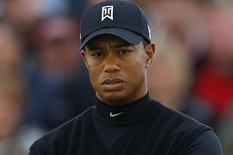 Tiger Woods durante el último British Open