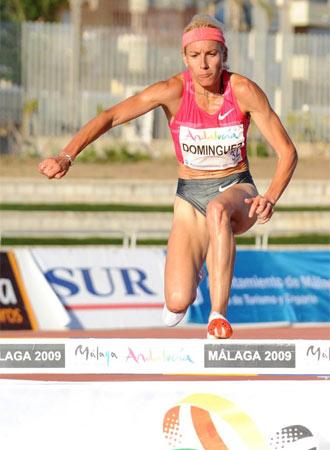 Marta Dom�nguez demostr� estar en gran forma.