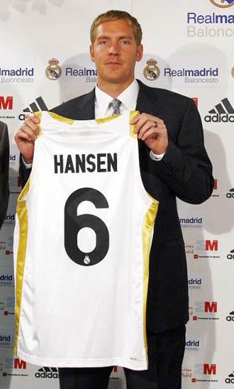 Travis Hansen, en su presentaci�n con el Madrid