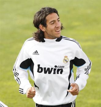 Dani Parejo, en un entrenamiento de la pasada temporada