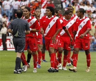 Imagen de archivo de un encuentro disputado por la selecci�n peruana en el Vicente Calder�n en 2007.