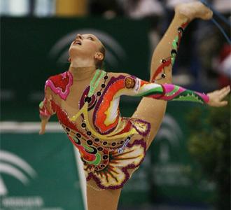 Vera S�ssina, en el Gran Premio de Gimnasia de Marbella celebrado en el a�o 2007
