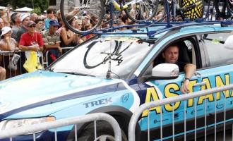 Bruyneel se mostr� muy satisfecho tras situar a dos corredores de Astana en el podio.
