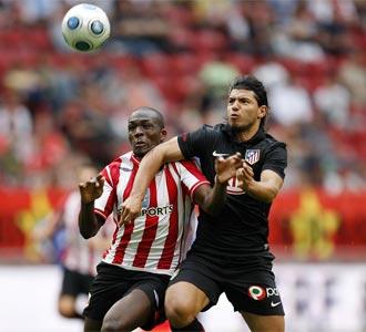 Ag�ero no ha podido marcar ante el Sunderland