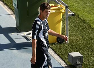 Huntelaar durante un entrenamiento del Madrid