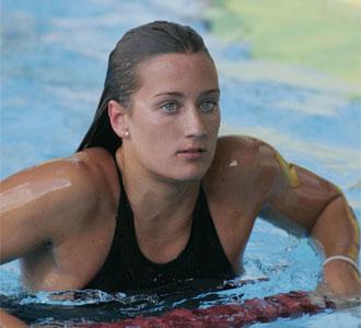 Mireia Belmonte, en la prueba de 400 metros estilos del Trofeo Internacional Ciudad de Barcelona