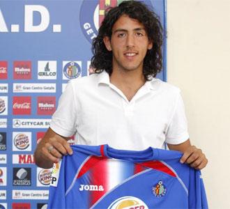 Dani Parejo, en su presentaci�n como nuevo jugador del Getafe
