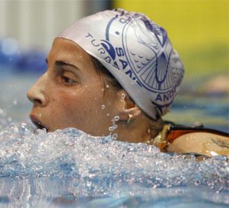 Érika Villaécija, en el Campeonato de España de Natación