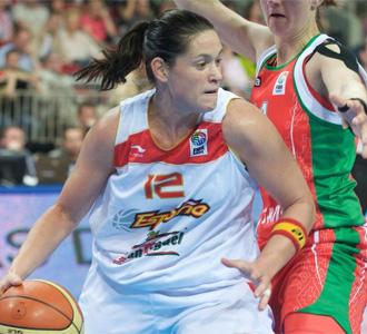 Anna Monta�ana, en el Eurobasket de Letonia