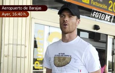 Xabi Alonso, ayer en Madrid