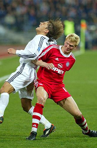 Effenberg las tuvo tiesas con los jugadores del Real Madrid