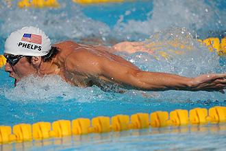 Michael Phelps sólo pudo ser segundo en el clasificatorio para semifinales