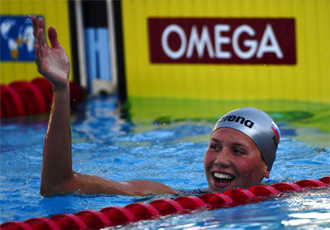 Anastasia Zueva celebra el récord