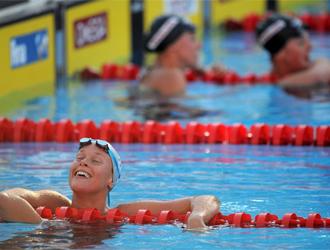 Federica Pellegrini, segundos después de hacer historia en la piscina romana