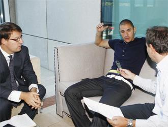 Benzema, en un momento de la entrevista