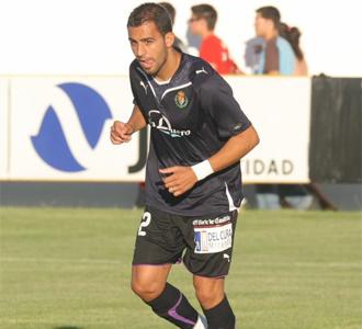 Nauzet Alem�n, en el primer partido de pretemporada del Real Valladolid