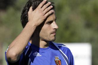 El centrocampista, durante un entrenamiento