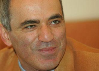 Gary Kasparov, campe�n de ajedrez