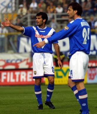 Pep Guardiola, cuando jugaba en el Brescia