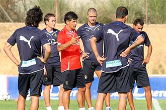 El Valladolid, durante un entrenamiento de pretemporada