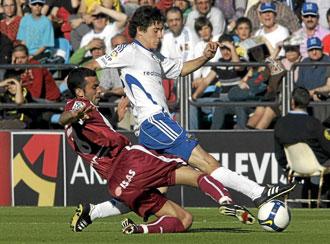 Real Zaragoza durante un partido