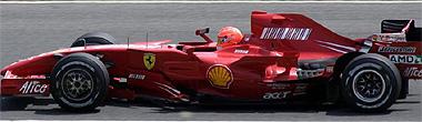 Schumacher, con el Ferrari