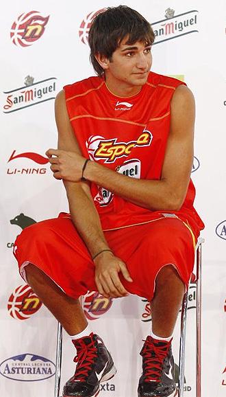 Ricky Rubio, durante la presentaci� de la selecci�n espa�ola