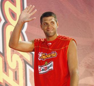 Felipe Reyes, en la presentación de la Selección española de Baloncesto que irá al Eurobasket de Polonia