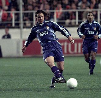 Redondo durante su etapa en el Real Madrid.