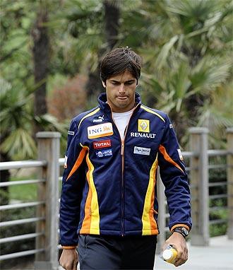 Nelson Piquet, en un Gran Premio con Renault.