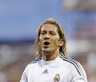 Míchel Salgado, en un partido con el Real Madrid.
