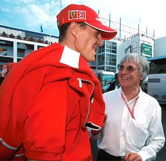 Michael Schumacher y Bernie Ecclestone