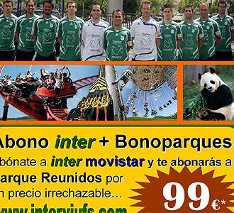 Los jugadores del Inter Movistar posando en la campa�a de abonados.
