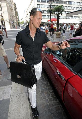 Michael Schumacher, después de visitar a Massa en el hospital de Budapest la semana pasada.