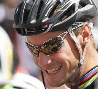 Tom Boonen, antes del comienzo de la primera etapa de la última edicion del Tour de Francia