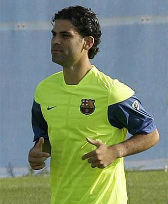 Rafa Márquez, durante un entrenamiento de la pretemporada