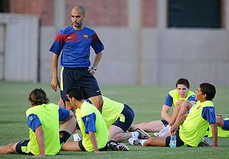 Guardiola está contento con sus jugadores