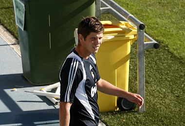 Huntelaar durante su �ltimo entrenamiento en el Real Madrid