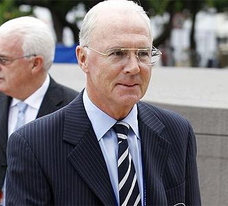 Beckenbauer, durante un acto.