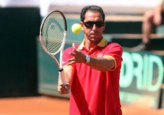 Albert Costa, entrenador de la seleccion espa�ola de Copa Davis