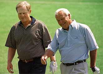 Jack Nicklaus y Arnold Palmer, dos de los mejores golfistas estadounidenses.