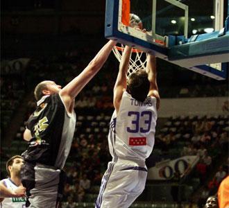 Partido entre el Vive Menorca y el Real Madrid en el Palacio de Vistalegre correspondiente a la pasada temporada de la ACB